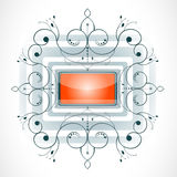 Abstract shape with frame. Stock Images