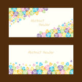 Abstract shape header design Royalty Free Stock Image