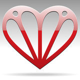 Abstract shape heart Royalty Free Stock Image