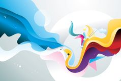 Abstract shape illustration Royalty Free Stock Images