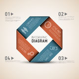 Abstract shape with Infographic Stock Images
