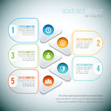 Abstract Shape Infographic Royalty Free Stock Photography