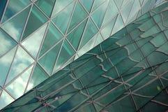 Abstract shape of a modern skyscraper. Abstract shape of a skyscraper facade royalty free stock photos