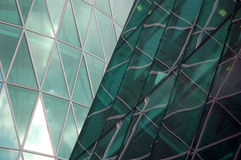 Abstract shape of a modern skyscraper. Abstract shape of a skyscraper facade Stock Photography