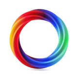 Abstract Shape, Multicolor Ring Isolated on White Background. 3d illustration stock illustration