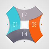 Abstract shape with numbered elements. Abstract infographics shape with numbered elements Stock Image