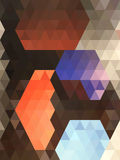 Abstract shape in orange center triangle pattern Royalty Free Stock Images