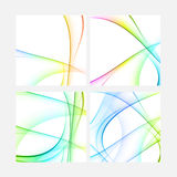 Abstract shape in the rainbow colors Royalty Free Stock Photos