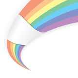 Abstract shape in the rainbow colors Stock Images