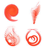 Abstract shape of red brush on white background Royalty Free Stock Photos