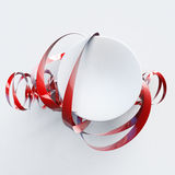 Abstract shape red Royalty Free Stock Images