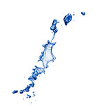 Abstract shape, splash of blue water Stock Photo