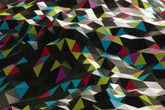 Abstract shape from triangles. Abstract shape from colorful triangles Stock Photos