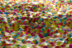 Abstract shape from triangles stock illustration