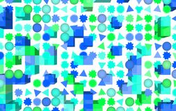 Abstract shape, for web page, wallpaper or graphic design. Pattern, gradient, mosaic, artwork & creative. Mixed colored rectangle, triangle, circle, ellipse & royalty free illustration