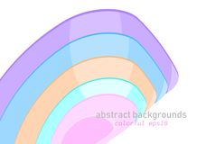Abstract shaped colors scene on a white royalty free stock photo