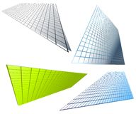Abstract Shaped Grid Backgrounds Royalty Free Stock Photography