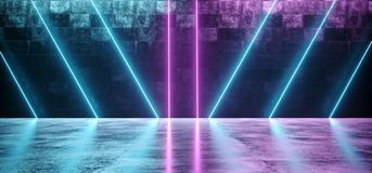 Abstract Shaped Sci Fi Futuristic Modern Vibrant Glowing Neon Pu. Abstract Sci Fi Futuristic Modern Vibrant Glowing Neon Purple Pink Blue Laser Tube Lights In stock illustration