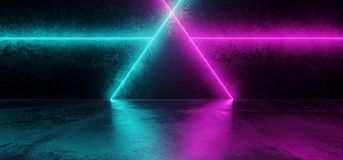 Abstract Shaped Sci Fi Futuristic Modern Vibrant Glowing Neon Pu. Abstract Sci Fi Futuristic Modern Vibrant Glowing Neon Purple Pink Blue Laser Tube Lights In vector illustration
