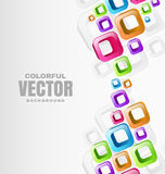 Abstract Shapes Background. Colorful Abstract Shapes Background with place for text Stock Photography