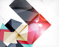 Abstract shapes background with light Royalty Free Stock Photography