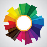 Abstract shapes with circle in the middle for flyer, brochure Royalty Free Stock Photography