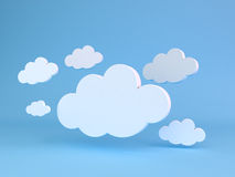 Abstract shapes of clouds. Royalty Free Stock Photos