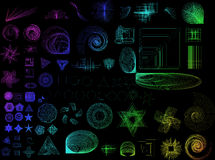 Abstract Shapes Collection stock illustration