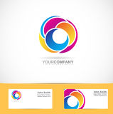 Abstract shapes corporate logo Royalty Free Stock Photo