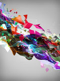 Abstract shapes. Flowing 3d illustration Stock Images
