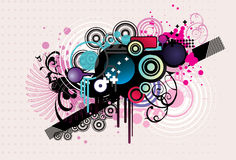 Abstract shapes illustration Royalty Free Stock Images