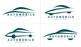 Abstract shapes logo icon for car or automobile Royalty Free Stock Photos