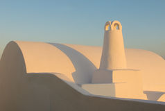Abstract shapes of Oia village, Santorini, Greece Stock Image