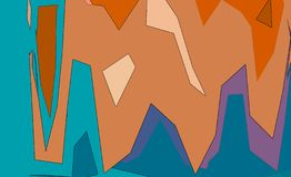 Abstract shapes pattern background stock image