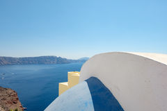Abstract shapes of roof Oia village, Santorini, Greece Stock Images