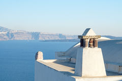 Abstract shapes of roof Oia village, Santorini, Greece Stock Photos