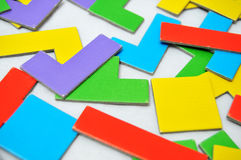 Abstract shapes scattered Royalty Free Stock Photos