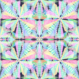 Abstract shapes seamless pattern. Kaleidoscope effect. stock photo