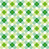 Abstract Shapes Seamless Texture. Green abstract pattern of shapes and spirals on white background. Seamless texture. Fabric, textile, material, tablecloth Stock Images