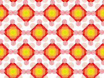 Abstract Shapes Seamless Texture. Abstract pattern of red, orange, yellow and green figures on a white background. Seamless texture. Fabric, textile, material Royalty Free Stock Photo