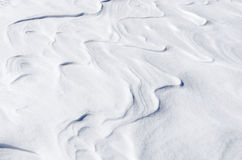 Abstract shapes on the snow, Florina, Greece Stock Images