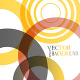 Abstract shapes vector background: colorful Stock Photography