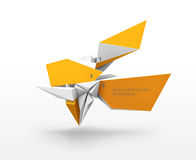 Abstract shapes vector background. Abstract 3d infographic shapes vector background Royalty Free Stock Images