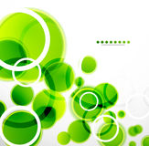 Abstract shapes vector background: green bubbles Royalty Free Stock Photography