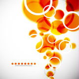 Abstract shapes vector background: orange bubbles Royalty Free Stock Images