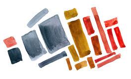 Abstract shapes in watercolor Stock Photo