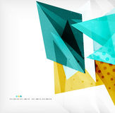 Abstract sharp angles background. Business brochure layout Stock Photos