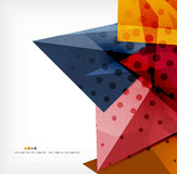 Abstract sharp angles background. Business brochure layout Stock Images