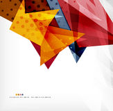 Abstract sharp angles background. Business brochure layout Stock Photography
