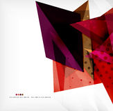Abstract sharp angles background. Business brochure layout Royalty Free Stock Images